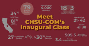 Meet the COM Inaugural Class