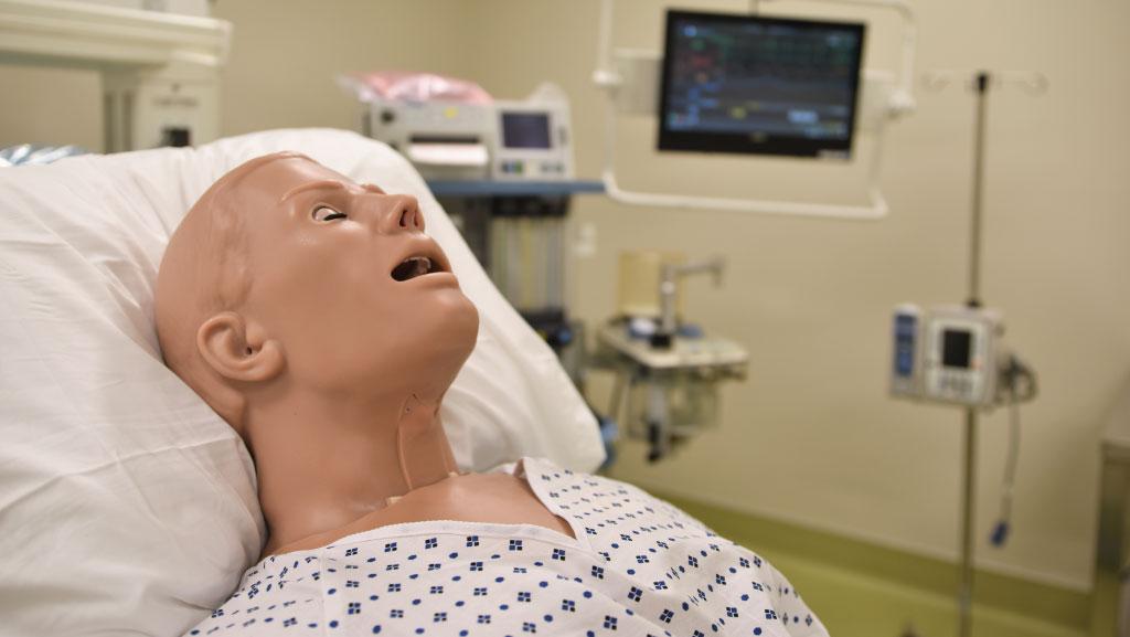 manikin in operating room