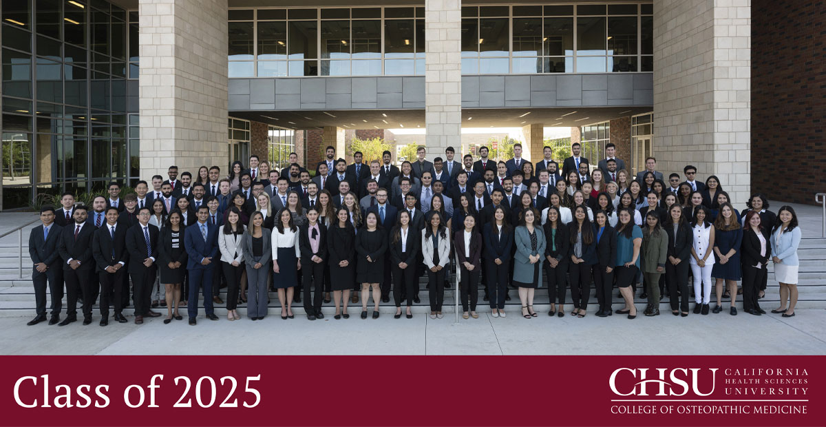 Class of 2025 California Health Sciences University College of Osteopathic Medicine.